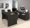 Premium Modern U-shaped Desk in Deep Gray