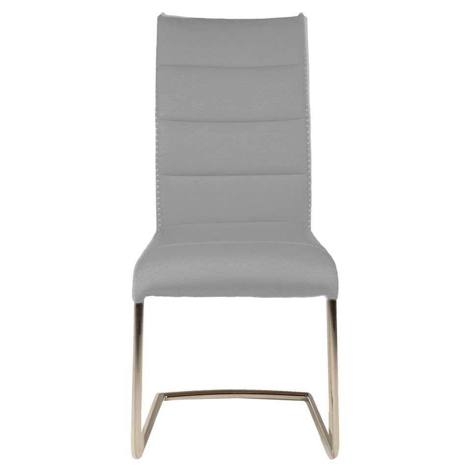 Understated Grey Fabric Guest or Conference Chairs (Set of 2)