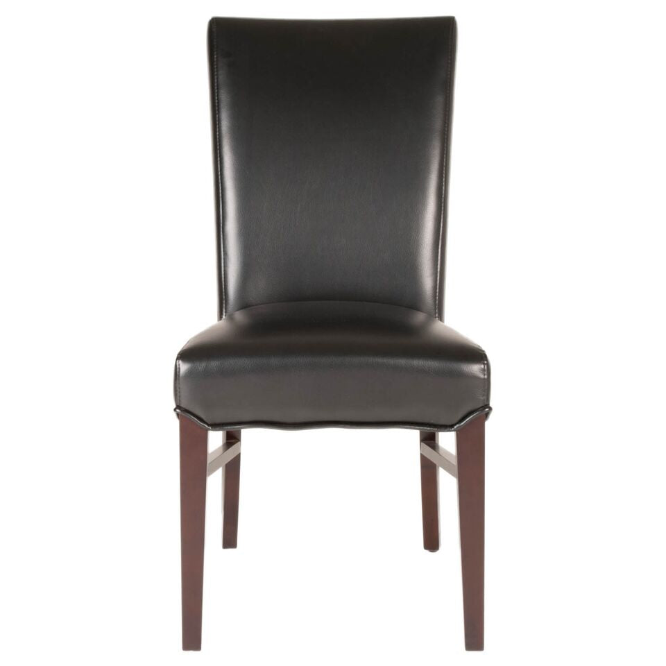 Classic Black Bonded Leather Guest or Conference Chairs (Set of 2)