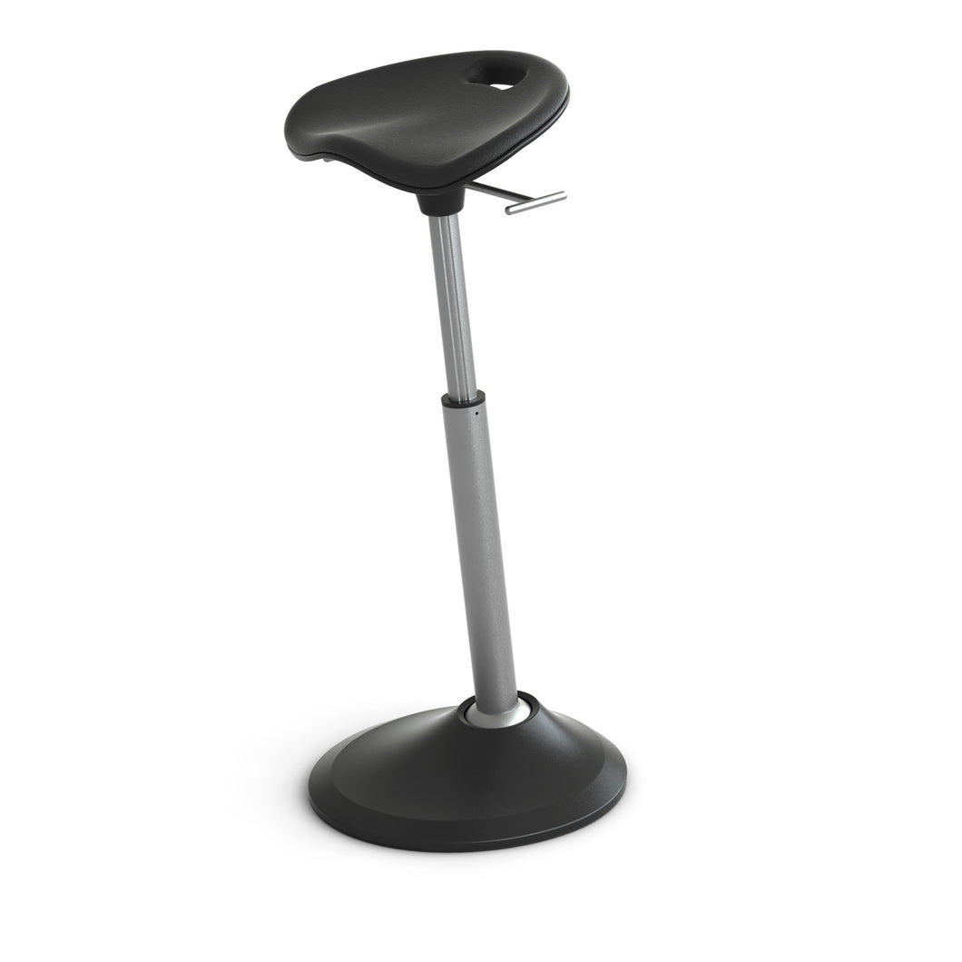 Black Perch Seat with Adjustable Height