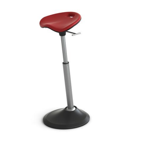 Red Perch Seat with Adjustable Height