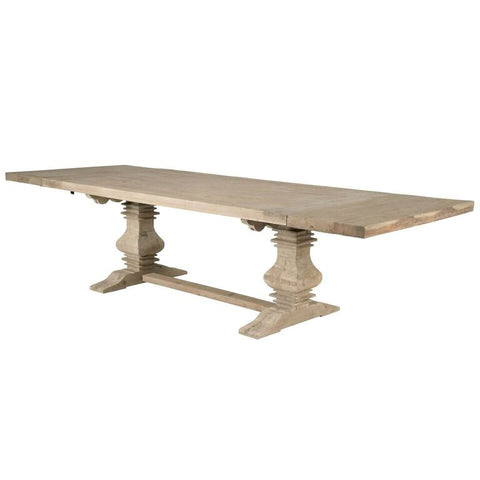 "84"" – 120"" Modern Grey Pine Extension Conference Table"