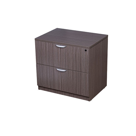Driftwood Locking Two-Drawer Lateral Filing Cabinet