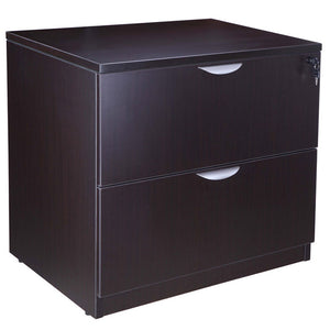 Mocha Locking Two-Drawer Lateral Filing Cabinet
