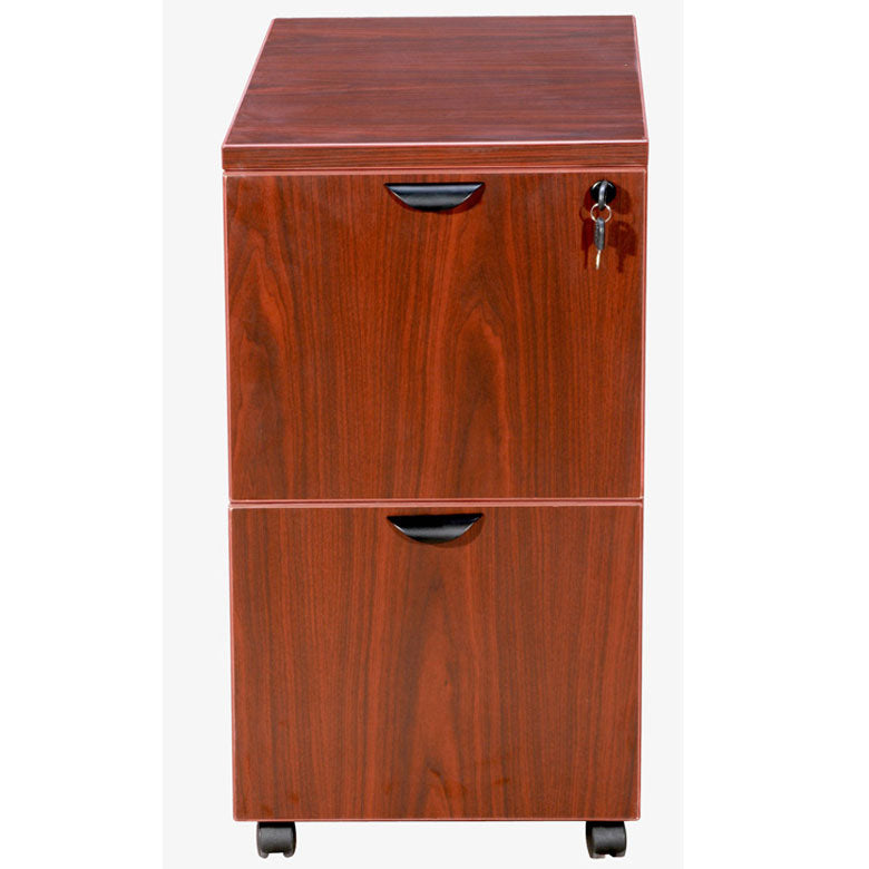 Mobile Cherry File Cabinet w/ 2-Drawers