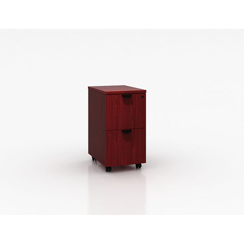 Mobile Mahogany File Cabinet w/ 2-Drawers