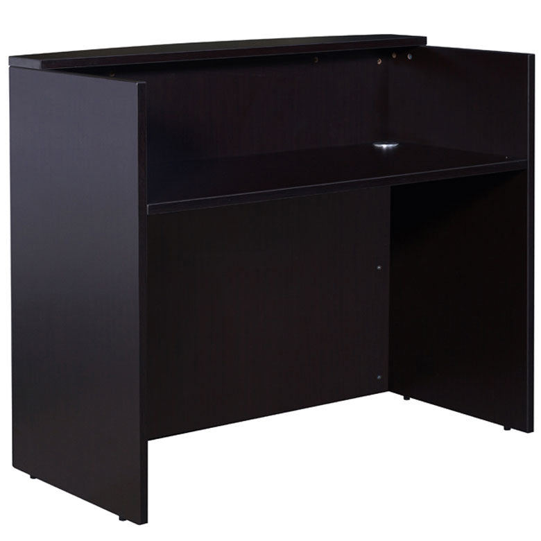 Sturdy & Stunning Mocha Reception Desk