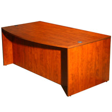 "Load image into Gallery viewer, Bold Cherry 71"" Bow Front Desk"