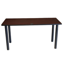 "Load image into Gallery viewer, Gorgeous Mahogany 72"" Training Table w/ Optional Casters"