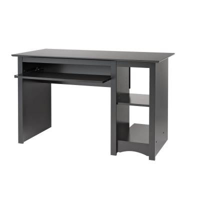 "48"" Contemporary Black Desk with Keyboard Tray"
