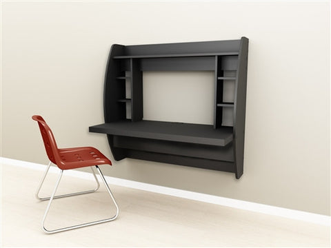 Modern Innovative Floating Wall Mounted Desk in Black