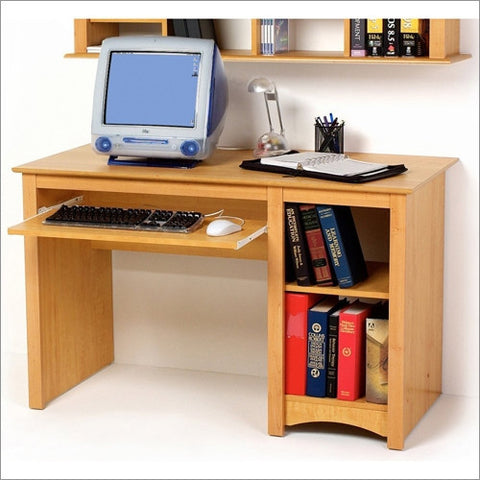 "48"" Contemporary Workstation in Maple with Keyboard Tray"