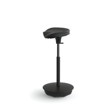 Load image into Gallery viewer, Cushioned Leaning Chair in Black with Pivot Base