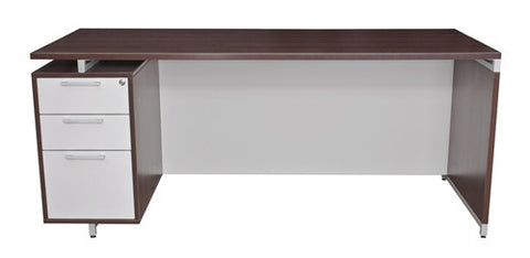 "OneDesk Modern Single Pedestal 71"" Executive Desk"