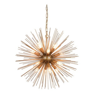 Burst-Style Iron Hanging Pendant Office Lighting