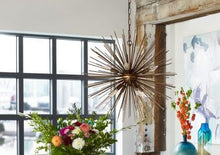 Load image into Gallery viewer, Burst-Style Iron Hanging Pendant Office Lighting