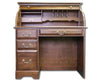 "Solid Cherry 42"" Single Pedestal Rolltop Executive Desk with Finish Options"