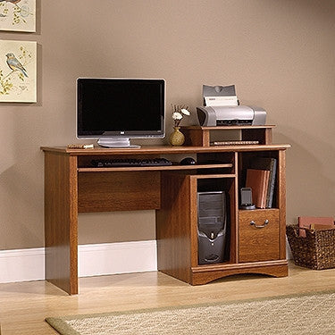 Contemporary 53 Quot Computer Desk With File Drawer In Planked