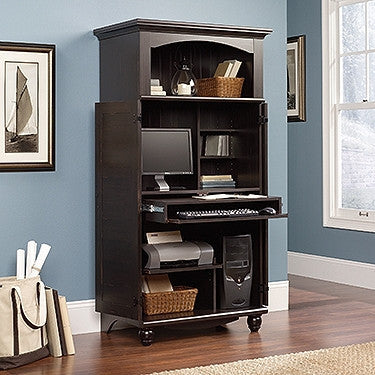 Contemporary Computer Armoire in Antique Painted Finish ...