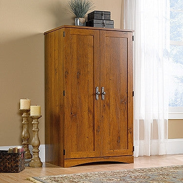 Elegant Abbey Oak Computer Armoire