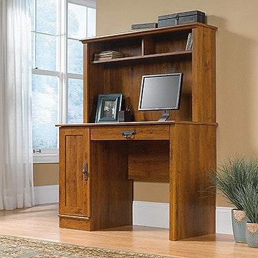 "43"" Contemporary Desk with Hutch in Abbey Oak Finish"