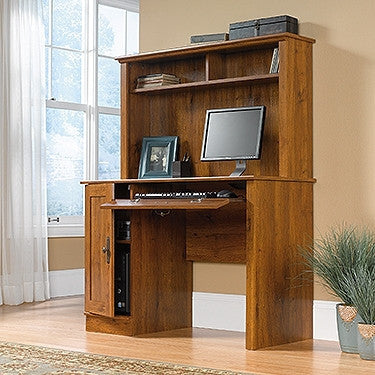 43 Quot Contemporary Desk With Hutch In Abbey Oak Finish