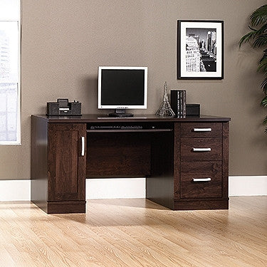 "Modern 59"" Dark Alder Office Desk with CPU Cabinet"