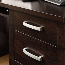 "Load image into Gallery viewer, Modern 59"" Dark Alder Office Desk with CPU Cabinet"