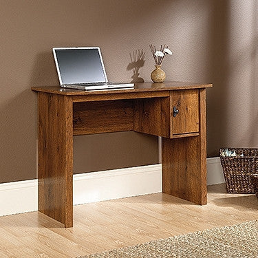 Abbey Oak Contemporary Student Desk with Small Footprint