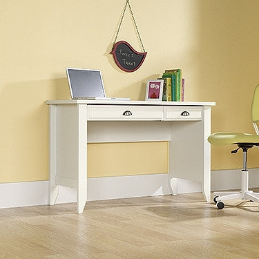Compact 47 Quot Modern Desk With Keyboard Tray In Soft White