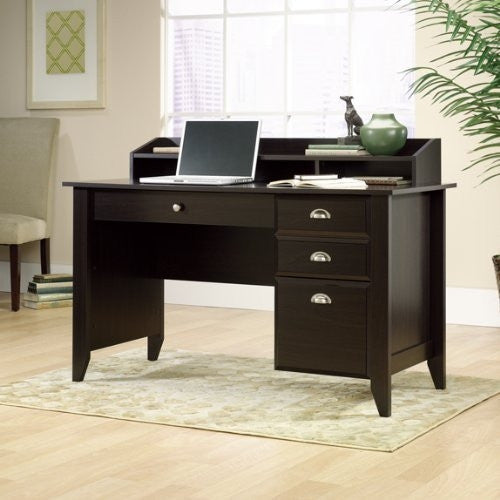 "Jamocha 53"" Computer Desk With Mini-Hutch & Optional File"