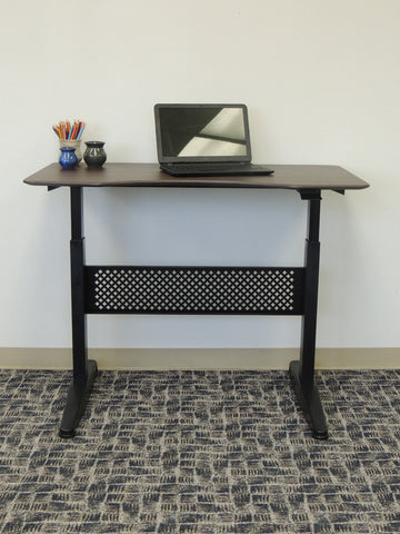 "Height Adjustable 47"" Office Desk in Mocha"
