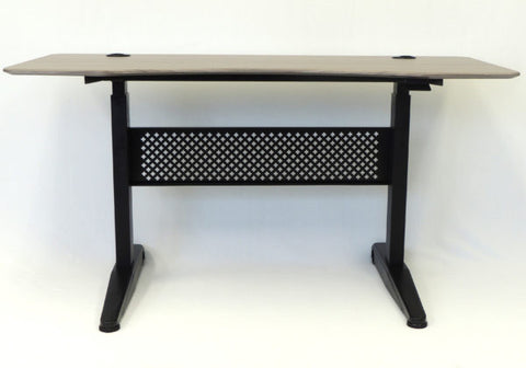 "Height Adjustable 60"" Office Desk in Driftwood"