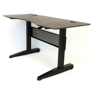 "Height Adjustable 60"" Office Desk in Mocha"