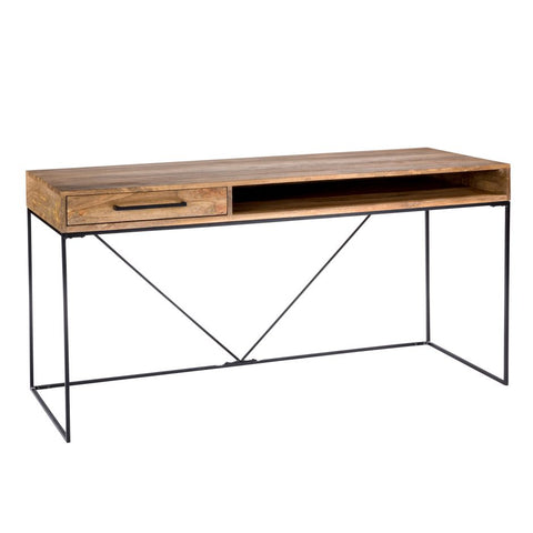 "Contemporary Solid Wood 60"" Executive Desk with Drawer"