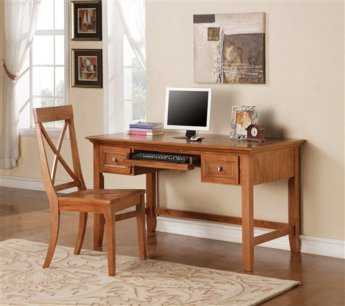 "54"" Premium Writing Desk in Oak"