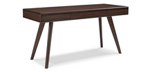"Load image into Gallery viewer, Solid Bamboo 60"" Modern Executive Desk with Drawer in Dark Walnut"