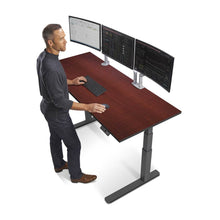 "Load image into Gallery viewer, 72"" Height Adjustable Sit Stand Desk with Frame & Top Color Options"
