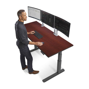 "72"" Height Adjustable Sit Stand Desk with Frame & Top Color Options"