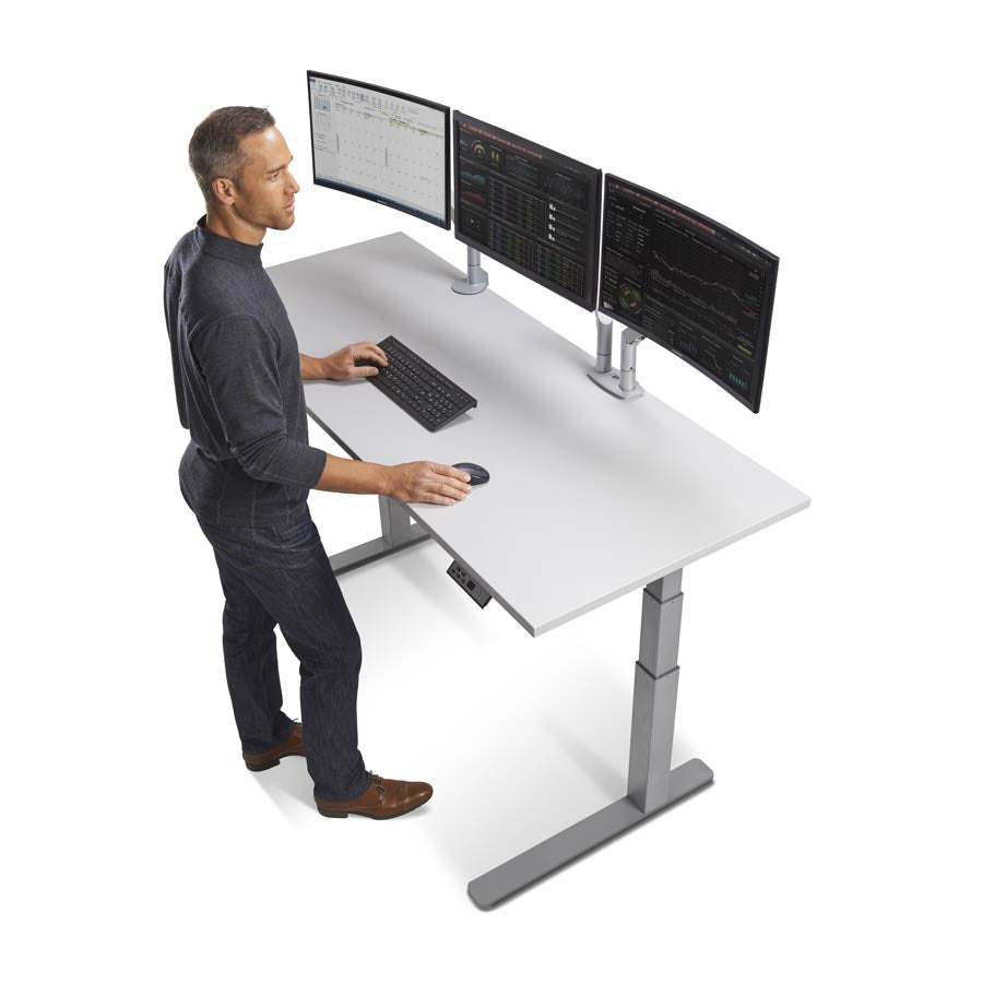 72 height adjustable sit stand desk with frame top color options