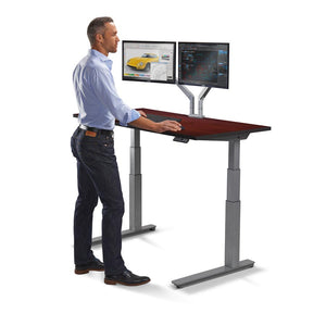 "60"" Height Adjustable Sit Stand Desk with Frame & Top Color Options"