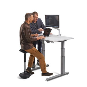 "48"" Height Adjustable Sit Stand Desk with Frame & Top Color Options"