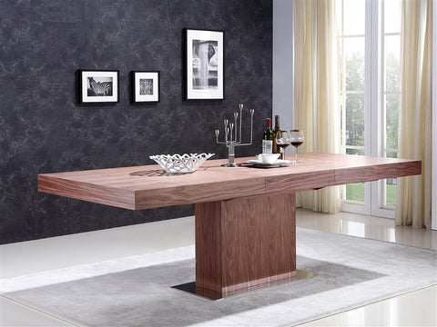 "71"" - 94"" Modern Extending Walnut Conference Table"