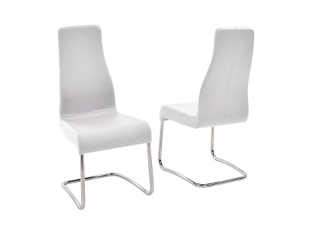 Gorgeous Ergonomic Conference Chair in White Italian Leather (Set of 2)