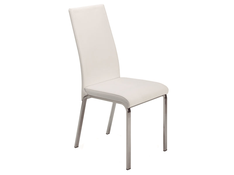 White Eco-Leather Guest or Conference Chair (Set of 2)