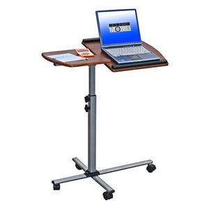 Mobile Laptop Stand in Mahogany or Graphite with Steel Stand