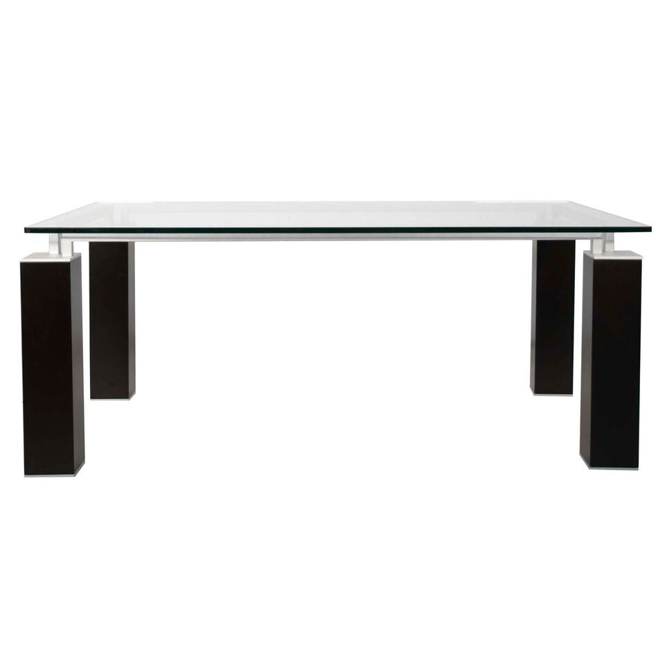 "75"" Classic Glass Top Executive Desk or Conference Table"