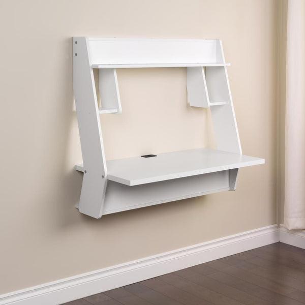 Modern Wall Mounted Floating Office Desk White