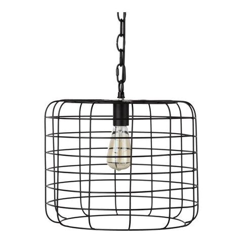 Hanging Pendant Office Light in Classic Cage Style