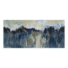 "Load image into Gallery viewer, Blue & Black Abstract Mountain Range Wall Art, 59"" x 27"""